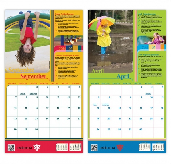 Calendar Design Templates : School calendar designs psd vector eps jpg