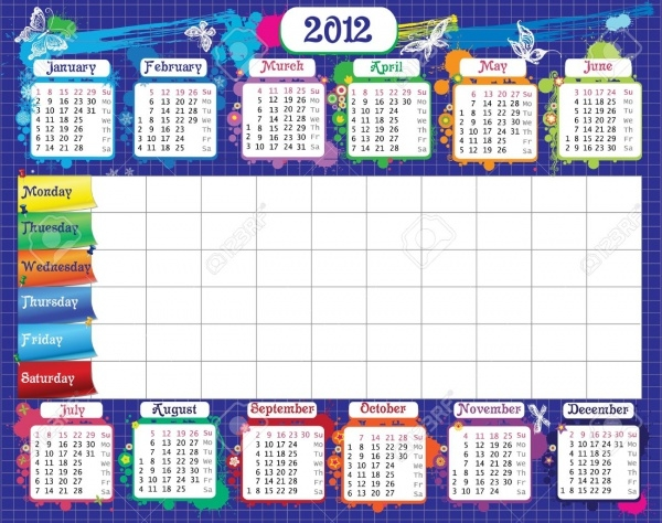 School Wall Calendar Design