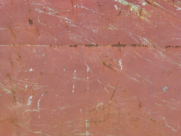 Scratched Red Metal Texture