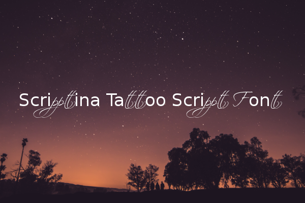 Scriptina Tattoo Script Font