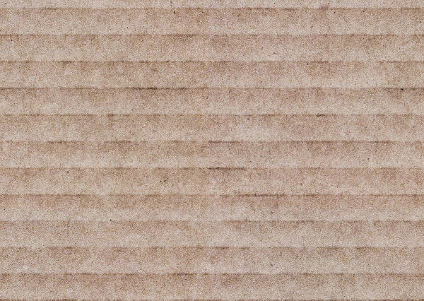 Seamless Corrugated Cardboard Texture