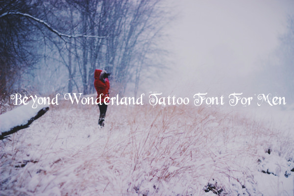 Serval Tattoo Font For Men