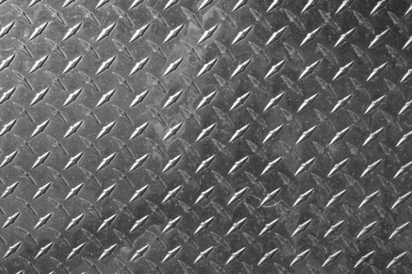Silver Sheet Diamond Plate Metal Texture