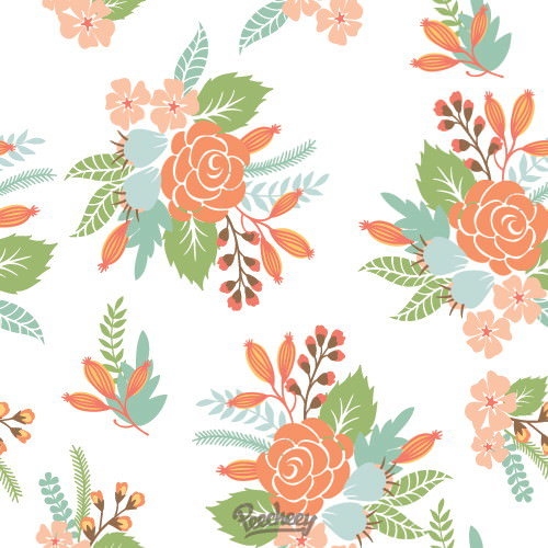 Simple Seamless Flower Background