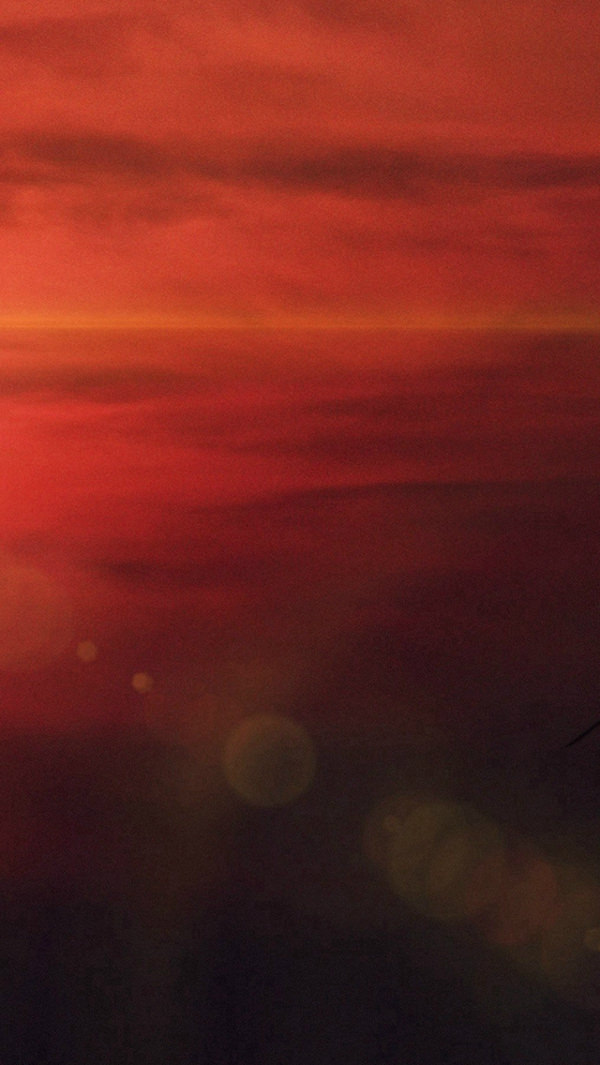 Sky Red Sunset Night Flare iPhone 5s Background