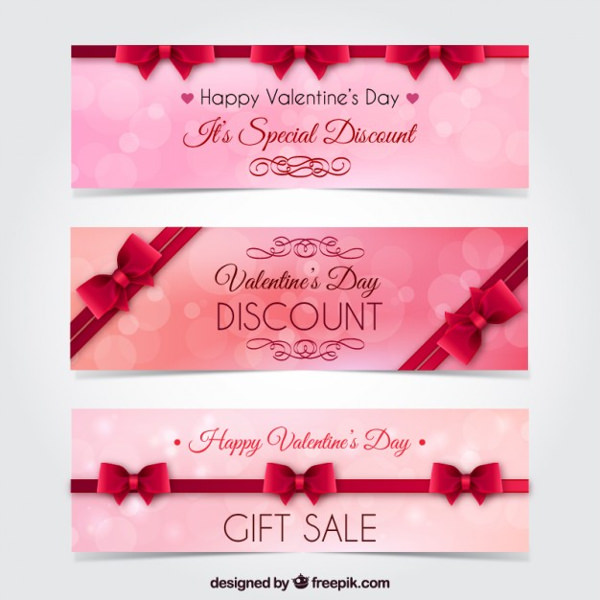 Special Valentine Day Banners Free Vector