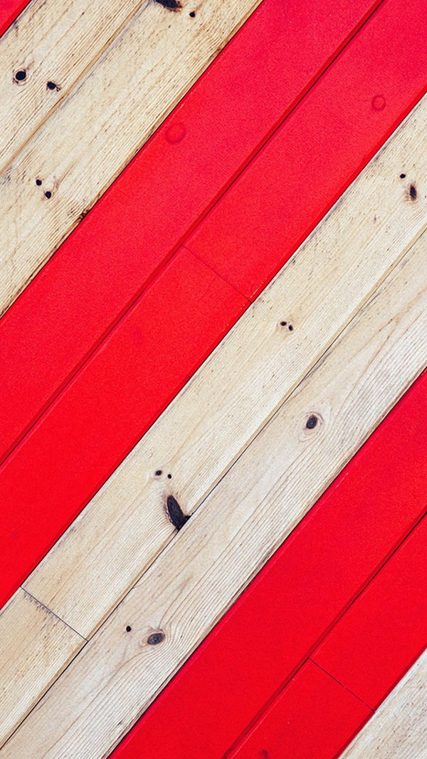 Stripe Red Wood iPhone 5s Background