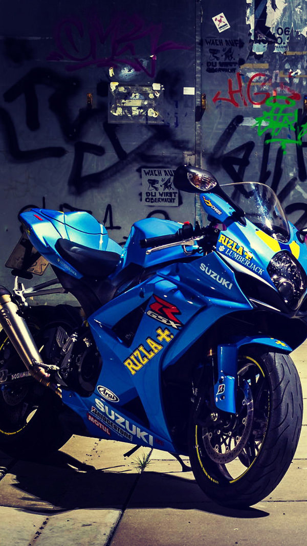 Suzuki Motorcycle iPhone 6 HD Background