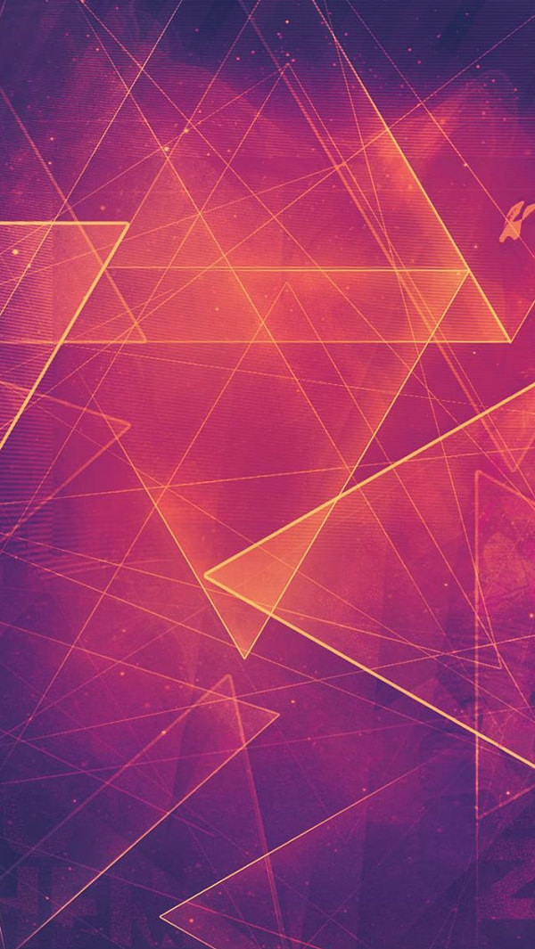 Triangle Shapes Red iPhone 5 Background