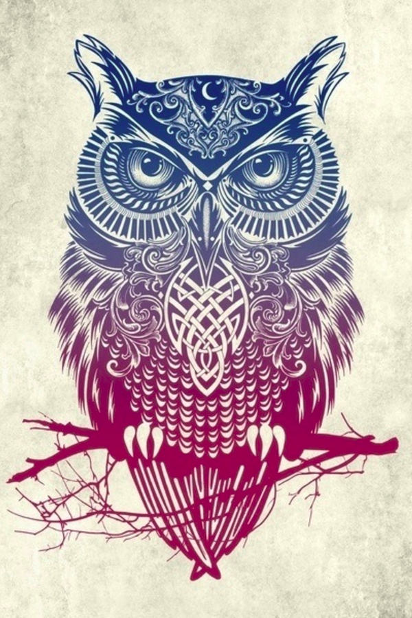 tribal owl background for iphone 4