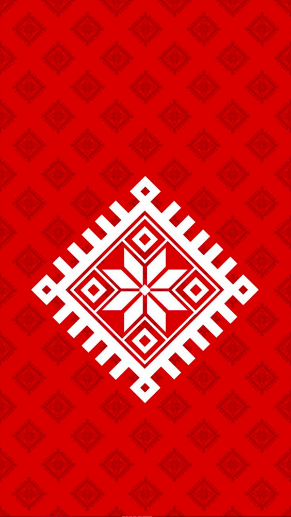 Tribal Sign Red iPhone 5 Background