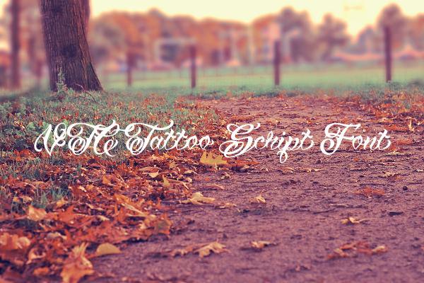 VTC Tattoo Script Font