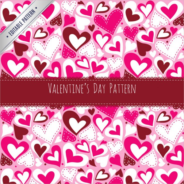 Valentine Day Hearts Pattern