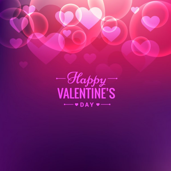 Valentines Day Card in Bokeh Style