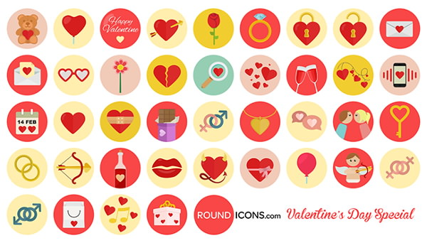 Valentines day Free Flat Icons