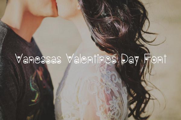 Vanessas Valentines Day Font