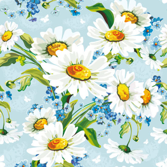 Vector Floral Flower Background