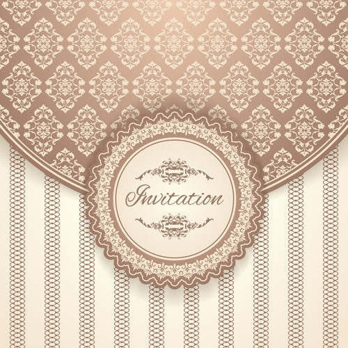 Vintage Floral Background Design for Invitation Cards