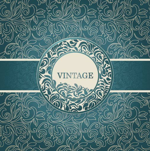 Vintage Floral Decorative Pattern background