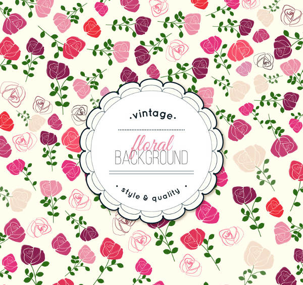 Vintage Rose Flowers Background