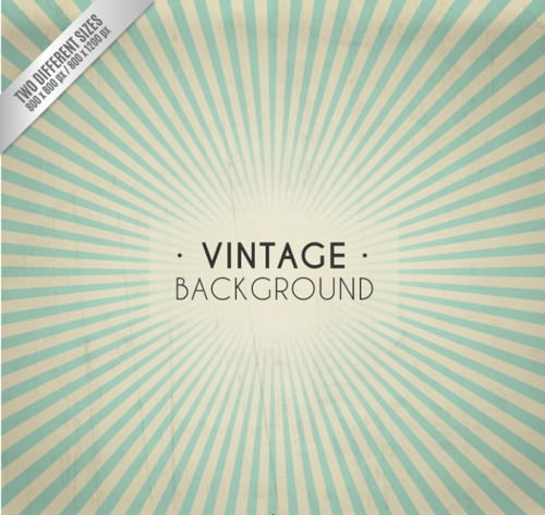 Vintage Sunburst Background Free Vector