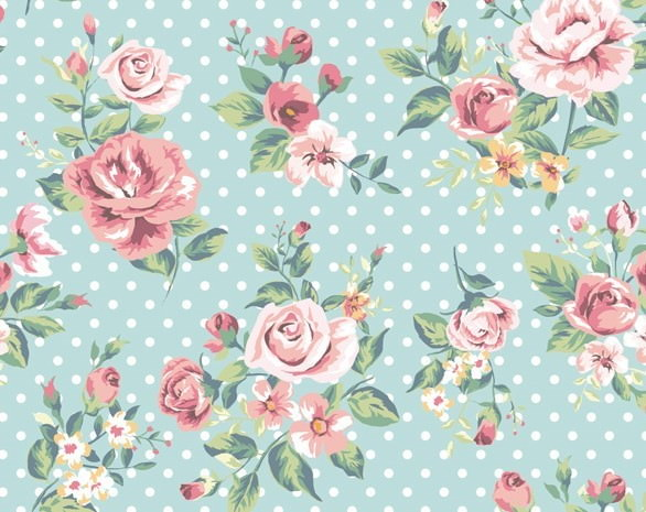 Vintage Watercolor Flowers Background
