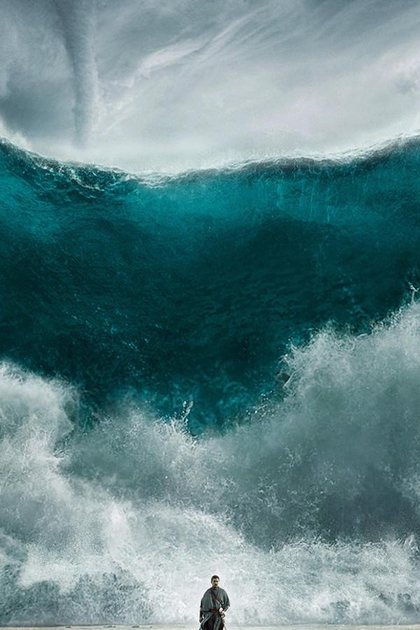 wave sea art film illust iphone 4 background