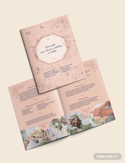 wedding event planner bi fold brochure template