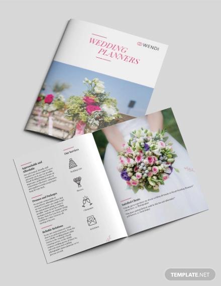 wedding planners bi fold brochure template