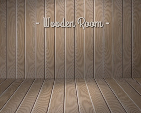 Wooden Wall Free Vector Design