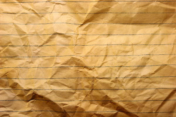 Wrinkled Lined Paper Texture