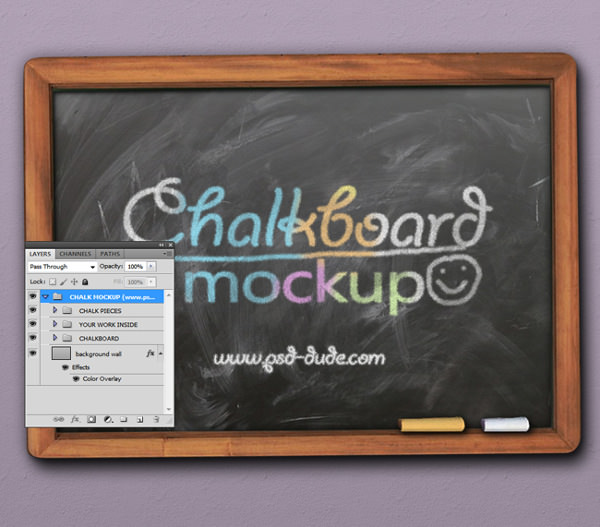 customizable free chalkboard mockup