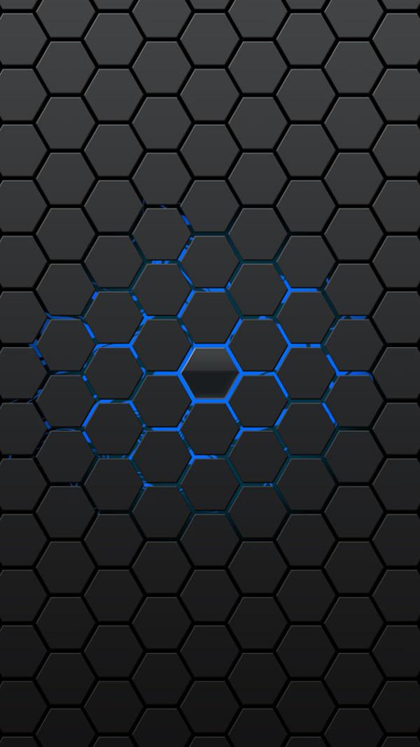 iPhone 5s Black Honeycomb Background