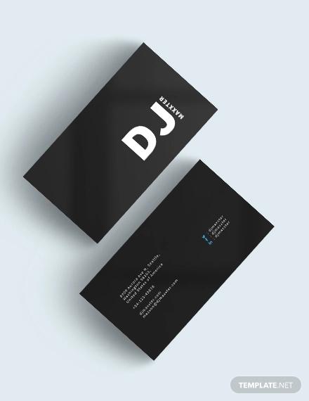 modern dj business card