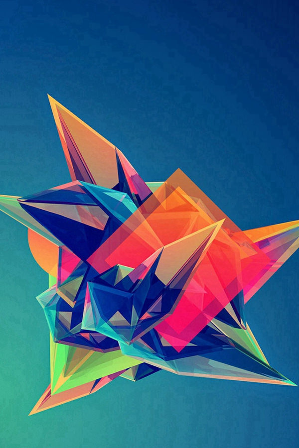 ool Abstract Polygonal Shape iPhone 4s Background