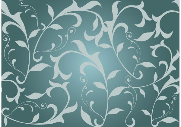seamless Swirl Floral background Design