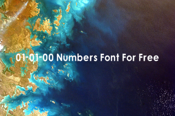 01-01-00 Numbers Font For Free
