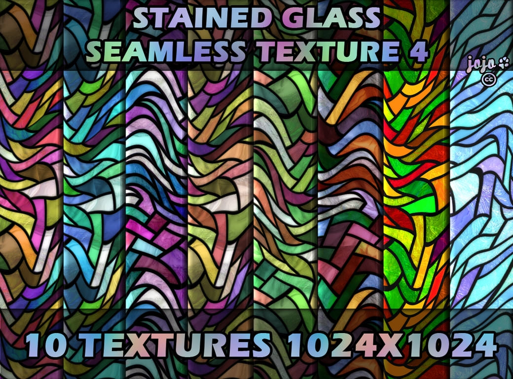 10 Free Photoshop Colorful Stained Glass Textures