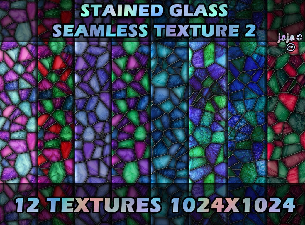 12 High Res Stained Seamless Glass Textures