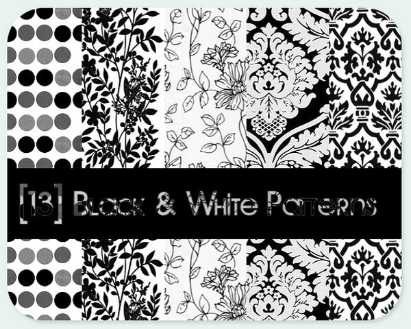 13 Amazing Black & White Patterns