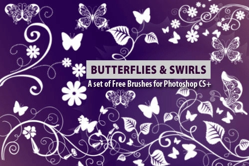 15 Fantasy Butterfly Photoshop Brushes for Free