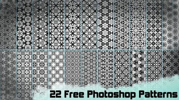 22 Free Black & White Photoshop Patterns