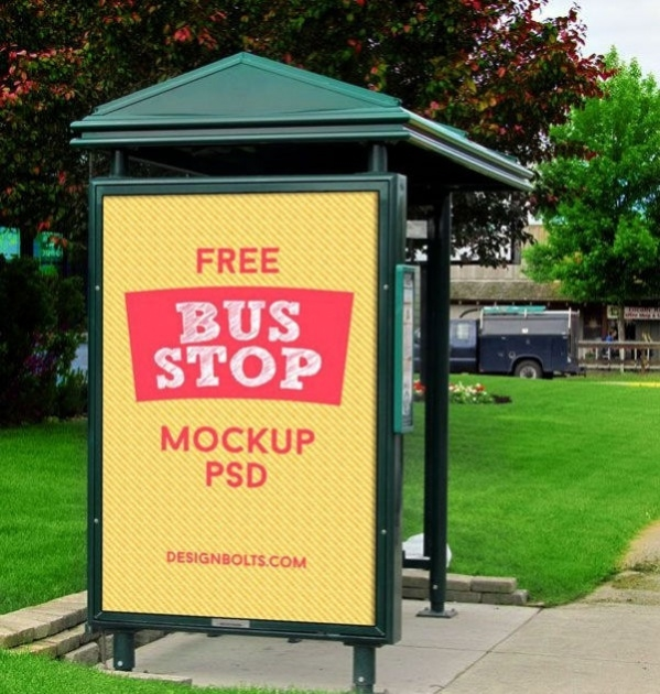 3 High Quality Outdoor Advertising Branding Mockups