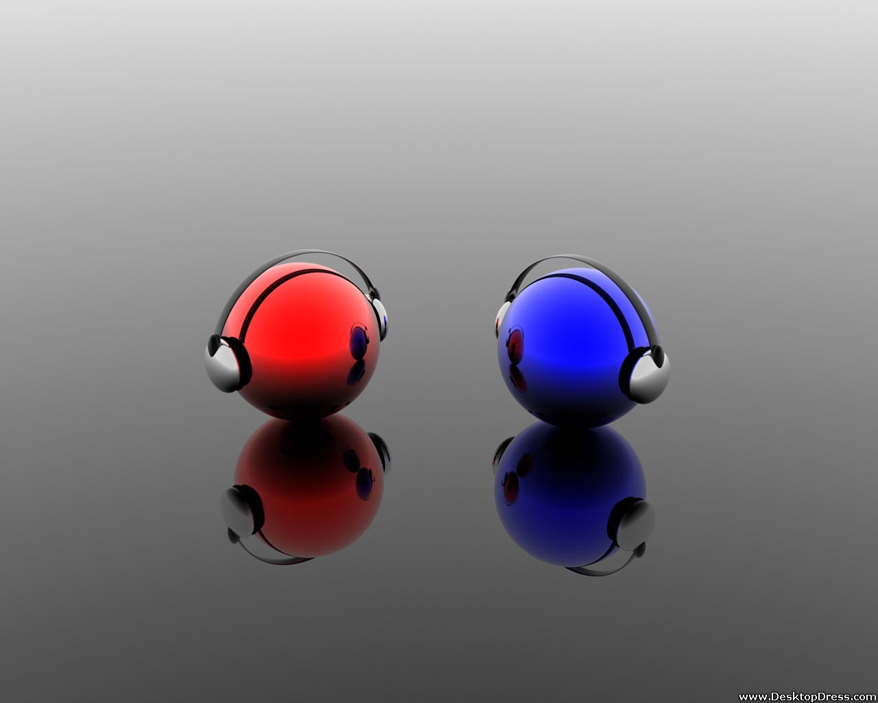 3D Red & Blue Tunes Background