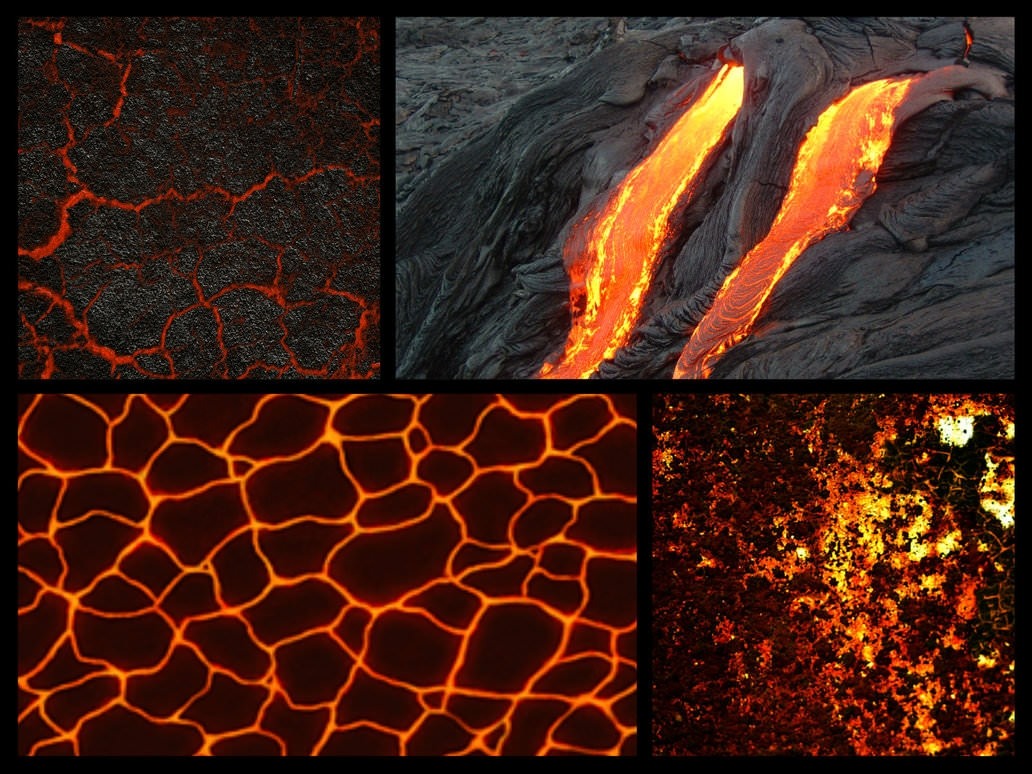 4 Creative Lava Texture Pack