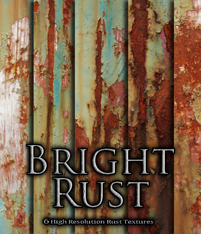 6 high res bright rust textures
