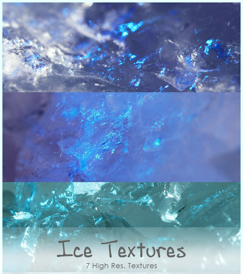 7 High Res Ice Textures Pack