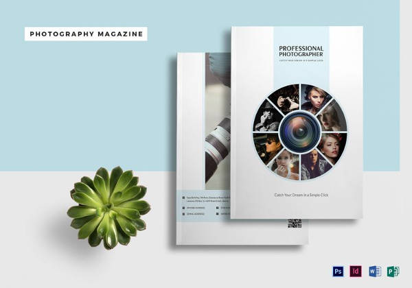 A4 Photography Magazine Template in PSD Format