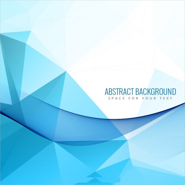 Abstract Background with Blue Polygons For You