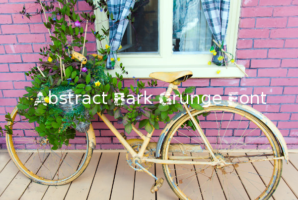 Abstract Bark Grunge Font